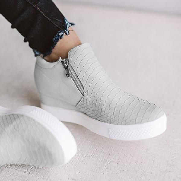 Zoeyootd Wedge Daily Comfy Sneakers