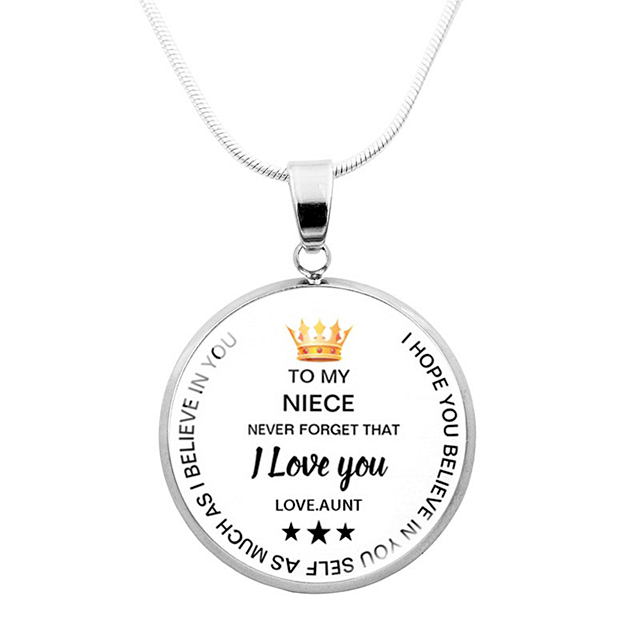 TO MY NIECE - BELIEVE IN YOURSELF NECKLACE