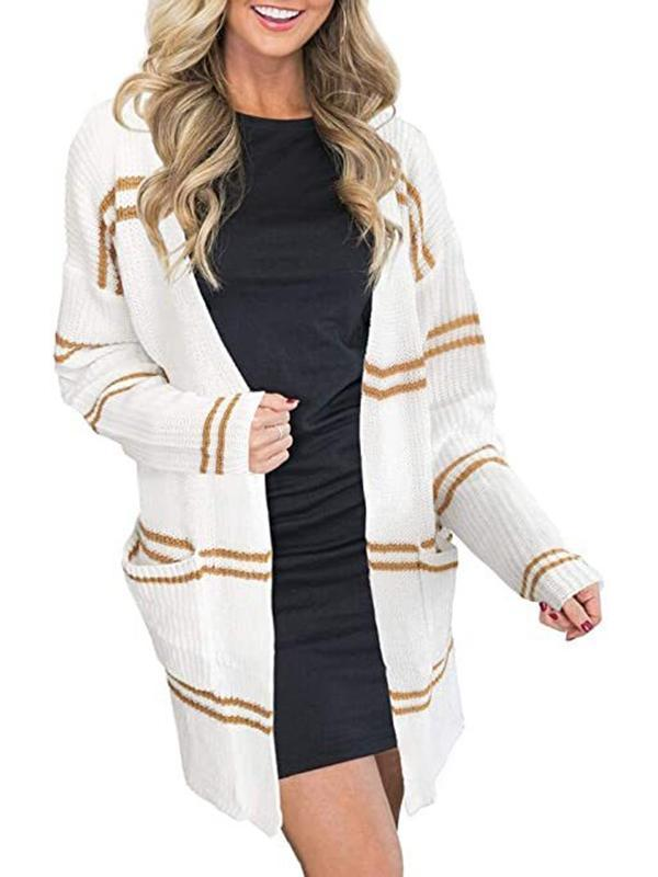 Bonnieshoes Relaxed Fit Knitting Cardigan