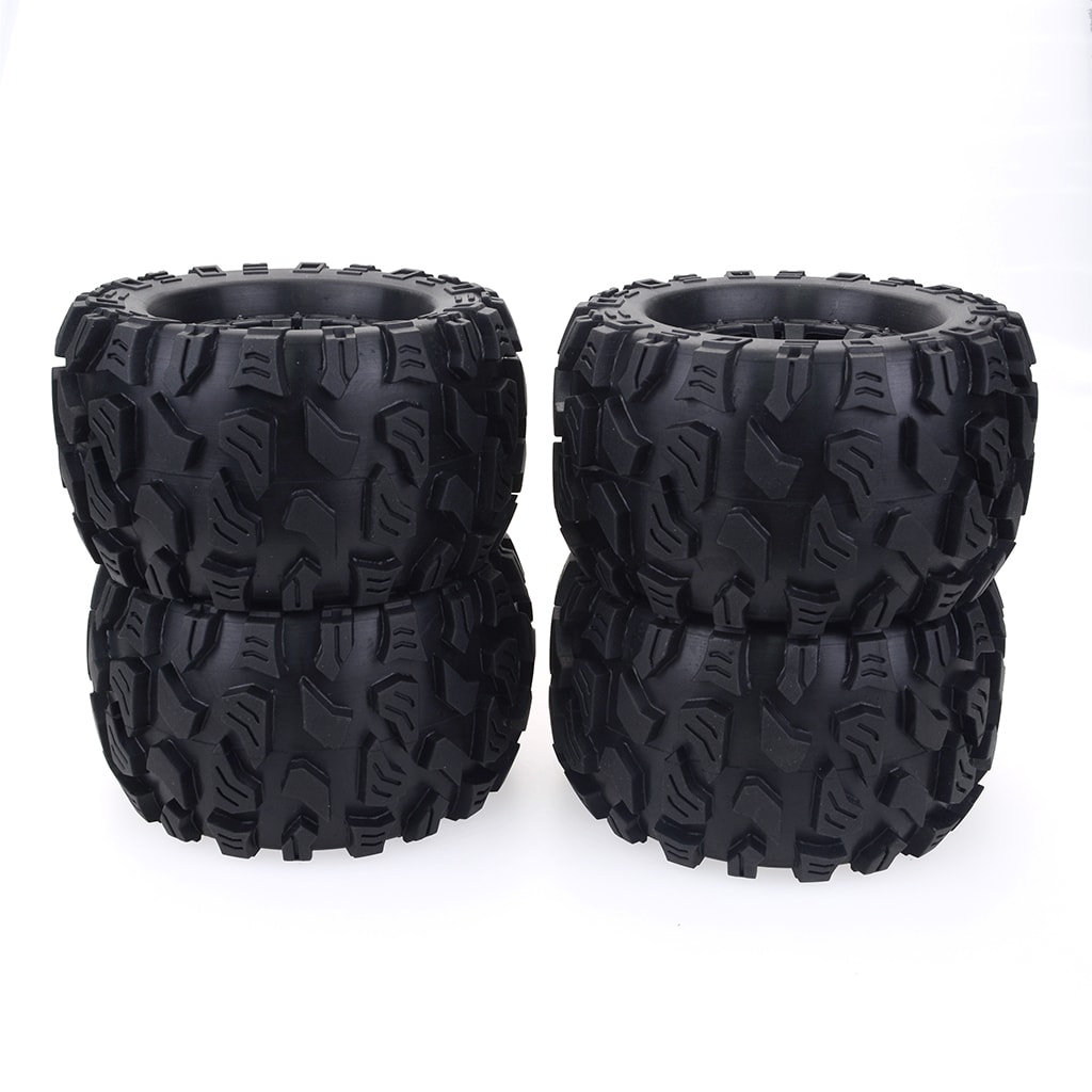 ZD 1/10 Monster Truck Wheels Tires Pack of 4 for HPI HSP Savage  XS TM Flux ZD Racing  LRP