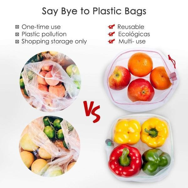 (🔥10 PCS ONLY $19.99🔥) Resuable Produce Bags