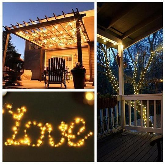 LED Copper Wire String Lights Rice Bulb Indoor And Outdoor Decoration