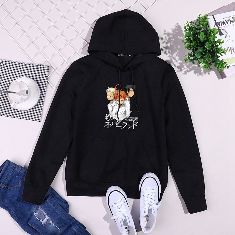 The Promised Neverland Print Long Sleeve Hoodie