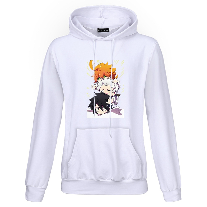 The Promised Neverland Anime Sweatshirt Pullover Casual Long Sleeve Hoodie
