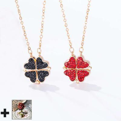 【🎄Christmas surprise🌈】🎁4-1 Lucky Leaf Clover Necklace