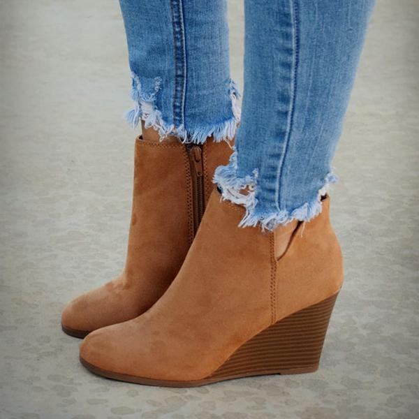 Bonnieshoes Fall Winter Daily Wedge Booties