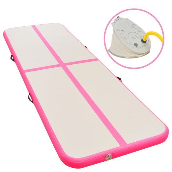 Buyonhome Multi-size and Multi-color Inflatable Gym Mat with Pump Tumbling Mat Yoga Mat