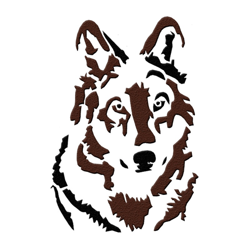 26*18cm DIY Craft Wolf Pattern Reusable Craft Stencils For DIY Painting Decor On Wall Wood Floor Fabric