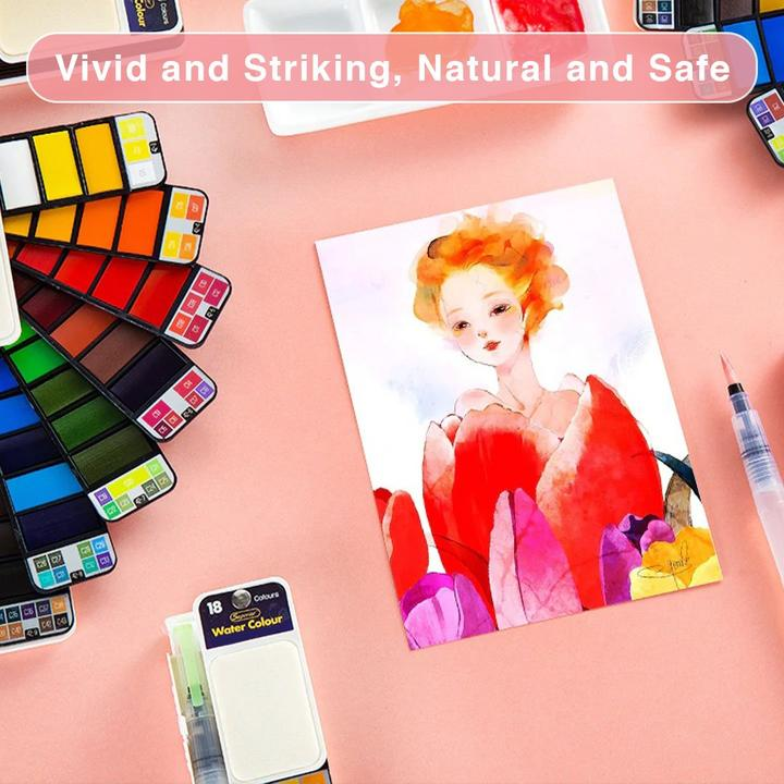 [Year-End Promotion - 50% Off] Nomadcolor Portable Watercolor Kit