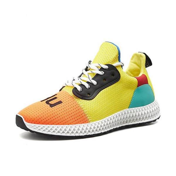 Zoeyootd Casual Mesh Breathable Lace Up Rubber Sole Sneakers