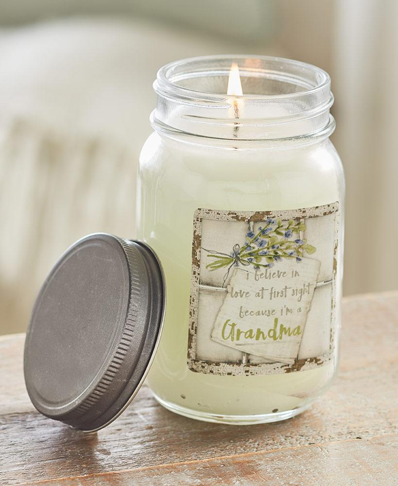 Sentiment Mason Jar Candles