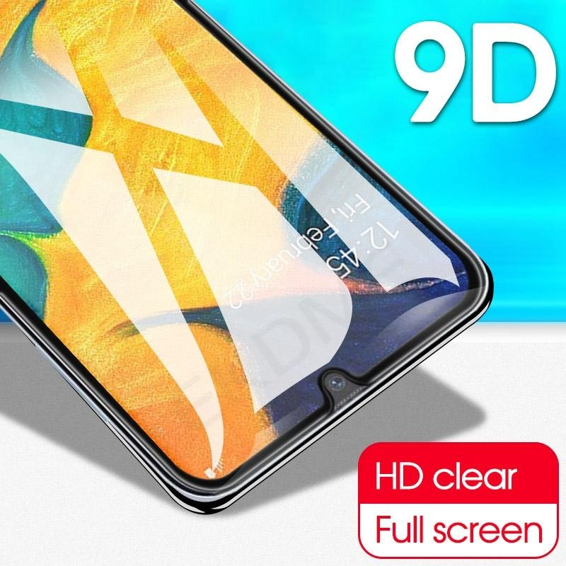 2PCS 9D Full Coverage Tempered Glass Screen Protector For Samsung A10 A30 A40 A50 A70 M10 M20 M30 A6 2018 A7 A9 2018 J4 J6 2018
