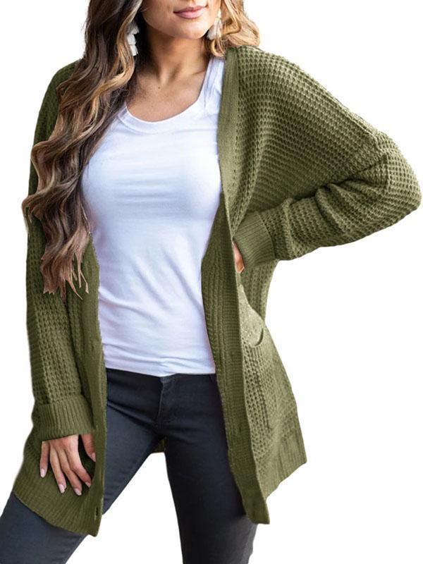 Bonnieshoes Fashion Cozy Long Sleeve Loose Polyester Cardigan