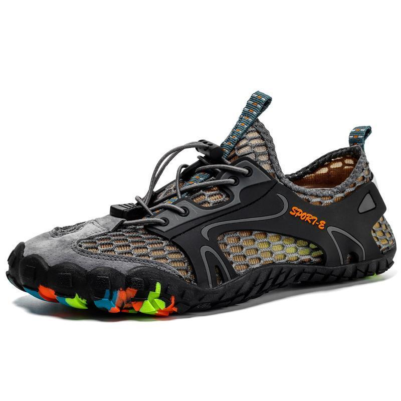 Men's Summer Quick Drying Five-finger Hiking Swimming Water Shoes (Please go up 1 Size)