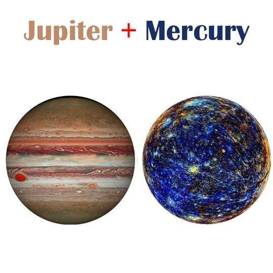 Celebrate Earth Day Happiness Puzzle-Earth and Moon + 4 major planets (Jupiter / Mars / Venus / Mercury)