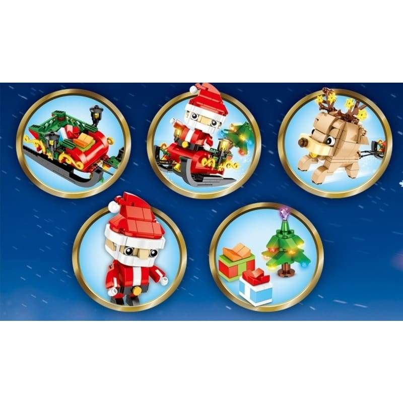 3 Style Creator Series Father Christmas Model Building Bricks Blocks Kits Educational Toys Childrens Gifts(No Original Box )