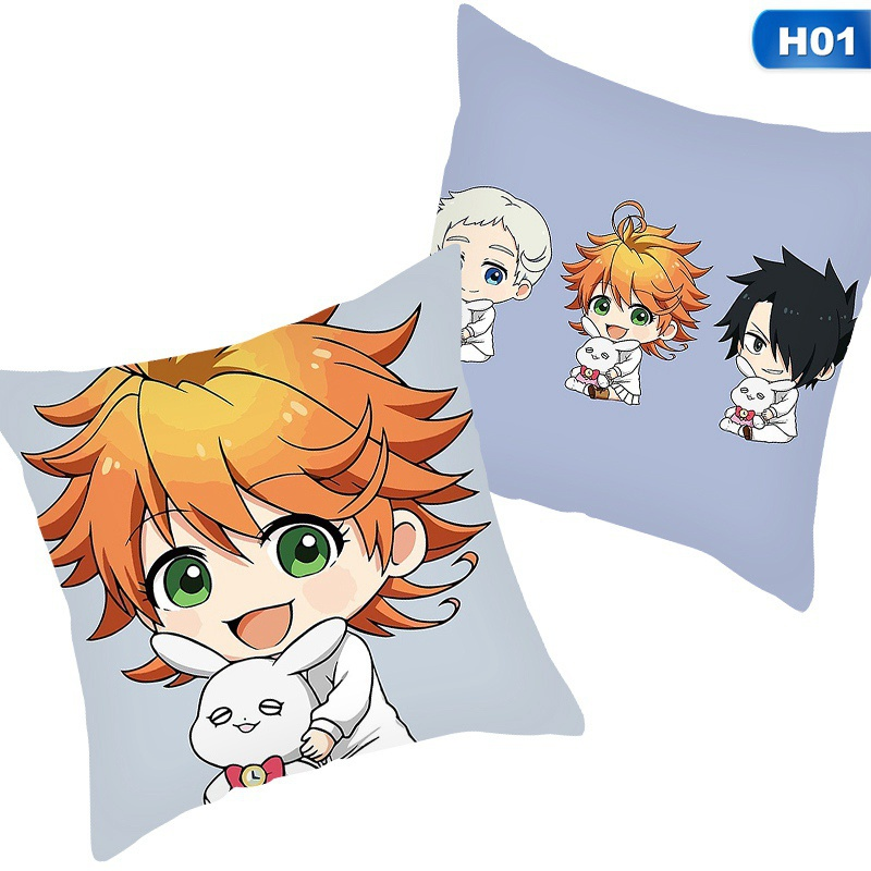The Promised Neverland Anime Pillowcase For Home Decorative Double Sided Printed Pillows Cover Cushion Cover Throw Pillowcases 45Cm X 45Cm(No Inner)
