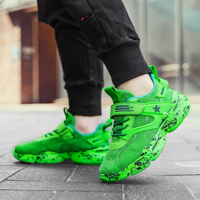 6 Colors Kids Shoes Boys Girls Breathable Sport Shoes Shock Absorbing Running Shoes Comfort Walking Shoes Casual Sneakers