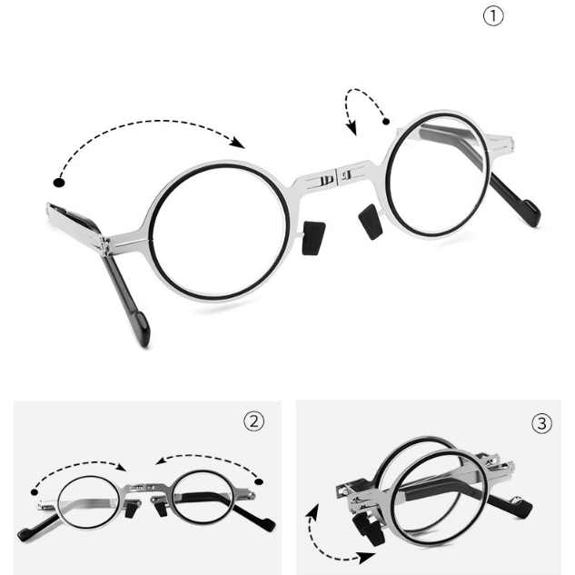 Ultra Light Titanium Material Screwless Foldable Reading Glasses123