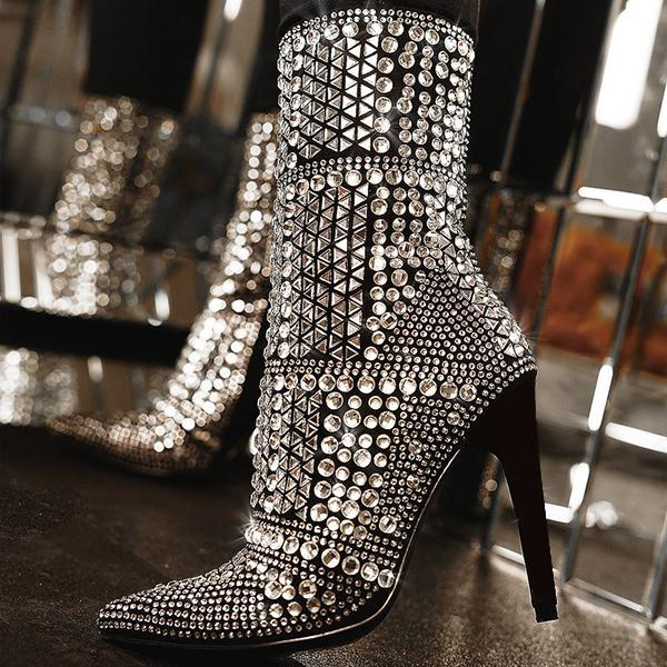 Faddishshoes Fashion Shine Bling Boots