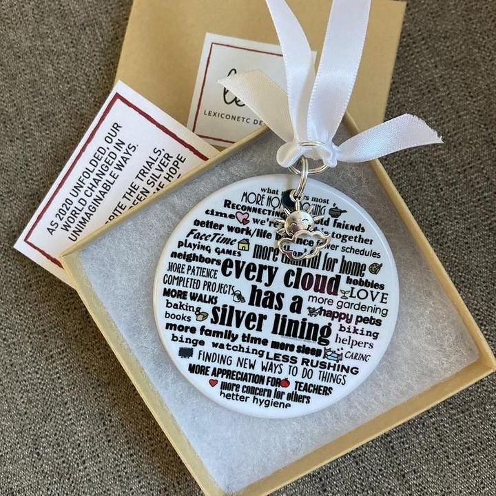 🌟Christmas Hot Sales🌟2020 Christmas Ornament, Silver Linings, Limited Edition