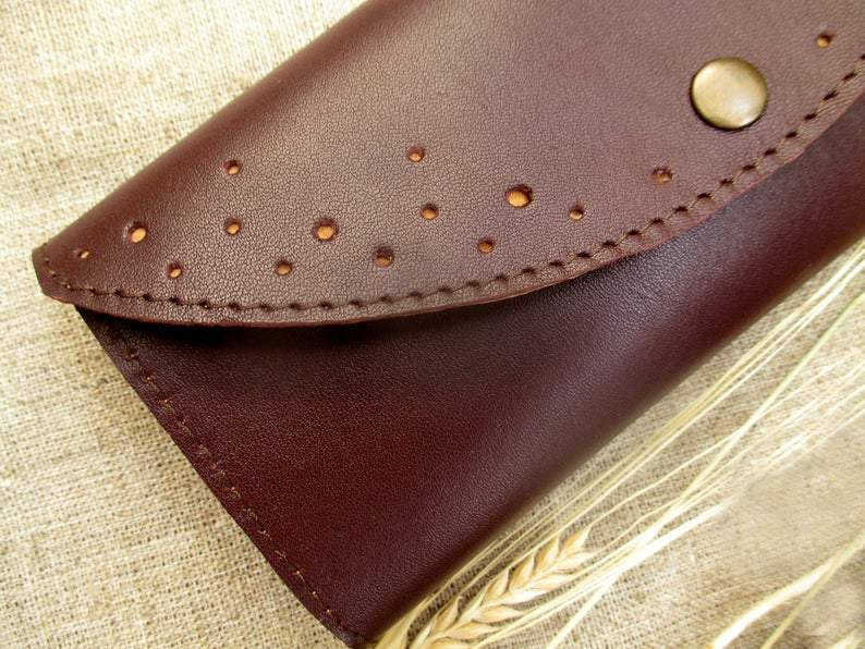 Burgundy Leather long Womens Wallet zipper pocket holder coin card wallet Leather Accessories Christmas gifts wallet phone case        Update your settings