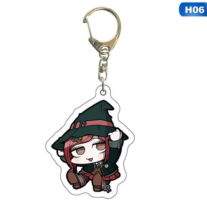 Anime Danganronpa Dangan Ronpa Komaeda Nagito Acrylic Figure Keychain Keyring Decoration Collection Model Toy Cosplay