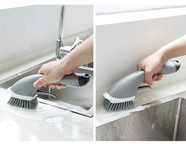 2in1 Kitchen Water Spray Cleaning Brush