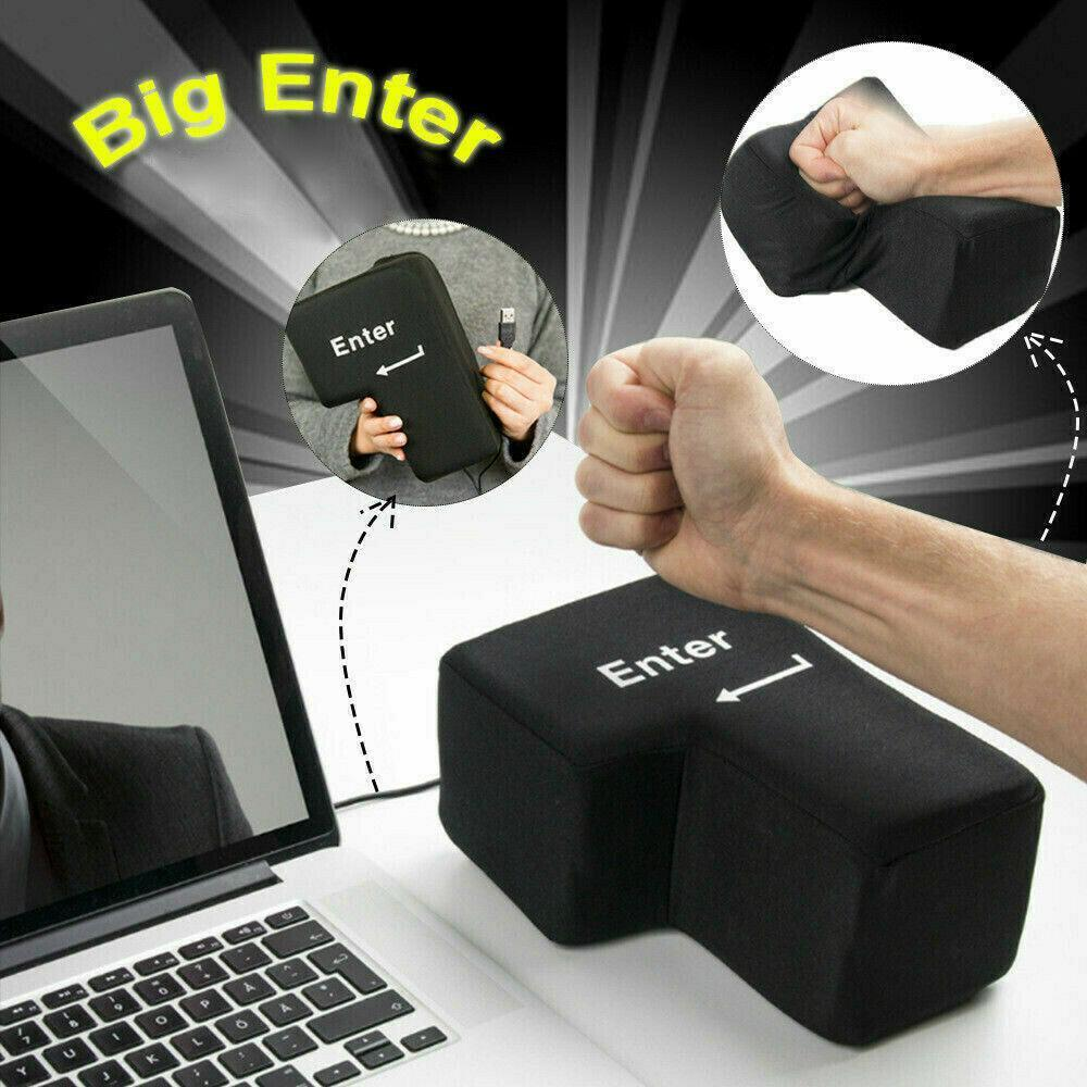 LARGE ENTER KEY PILLOW