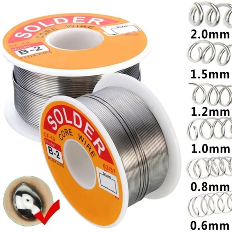 30/50/100G Solder Tin Lead Flux Wire Roll Soldering 0.3/0.5/0.6/0.8/1.0/1.2/1.5/2MM