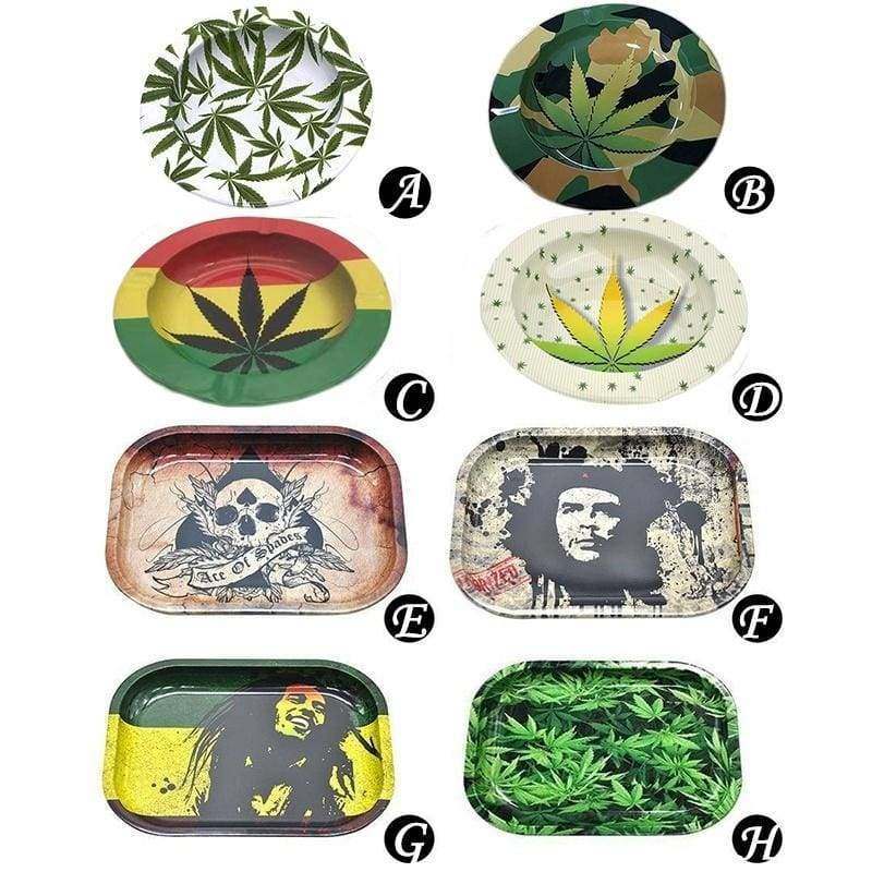 Tinplate Metal Tobacco Rolling Tray Herb Hand Roller Storage Plate Discs Ash For Smoke Grinder Cigar Tobacco Accessories