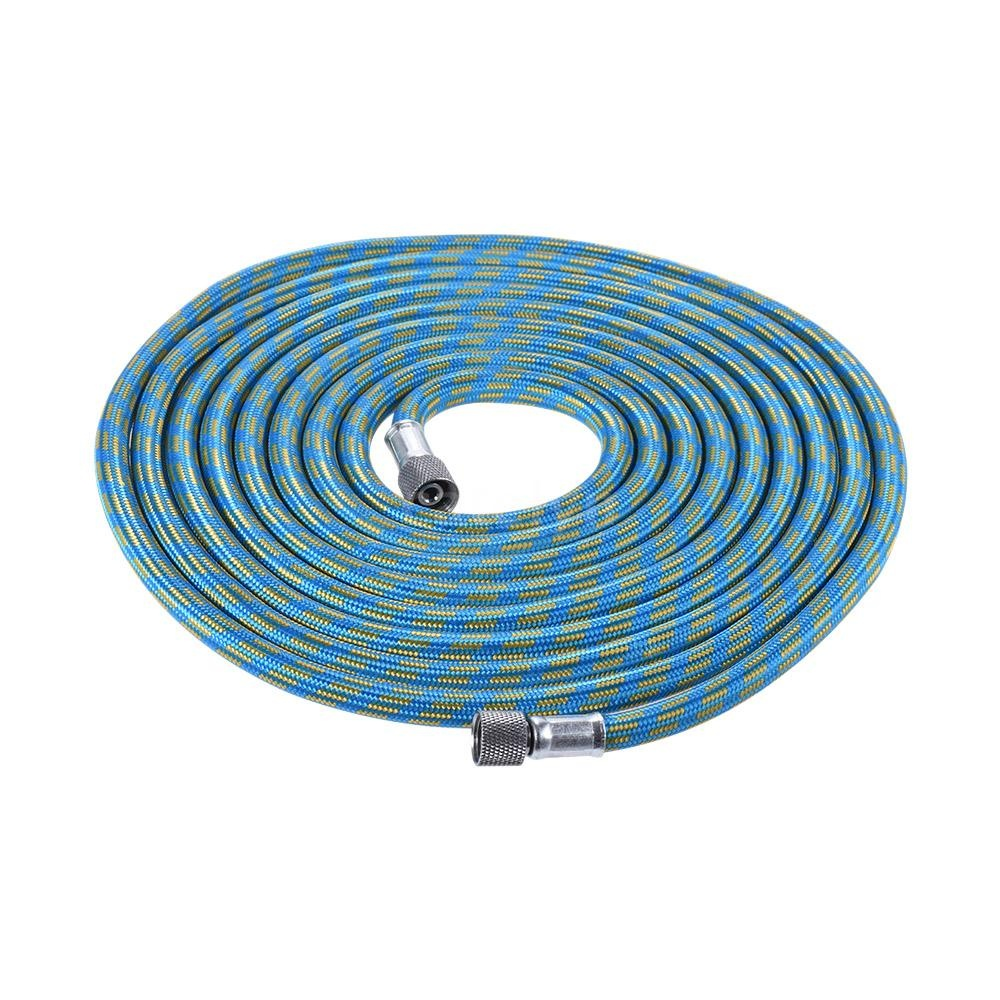 3m / 1.8m Nylon Braided Airbrush Hose with Standard 1/8' Size Fittings on Both Ends Premium Nylon Hose