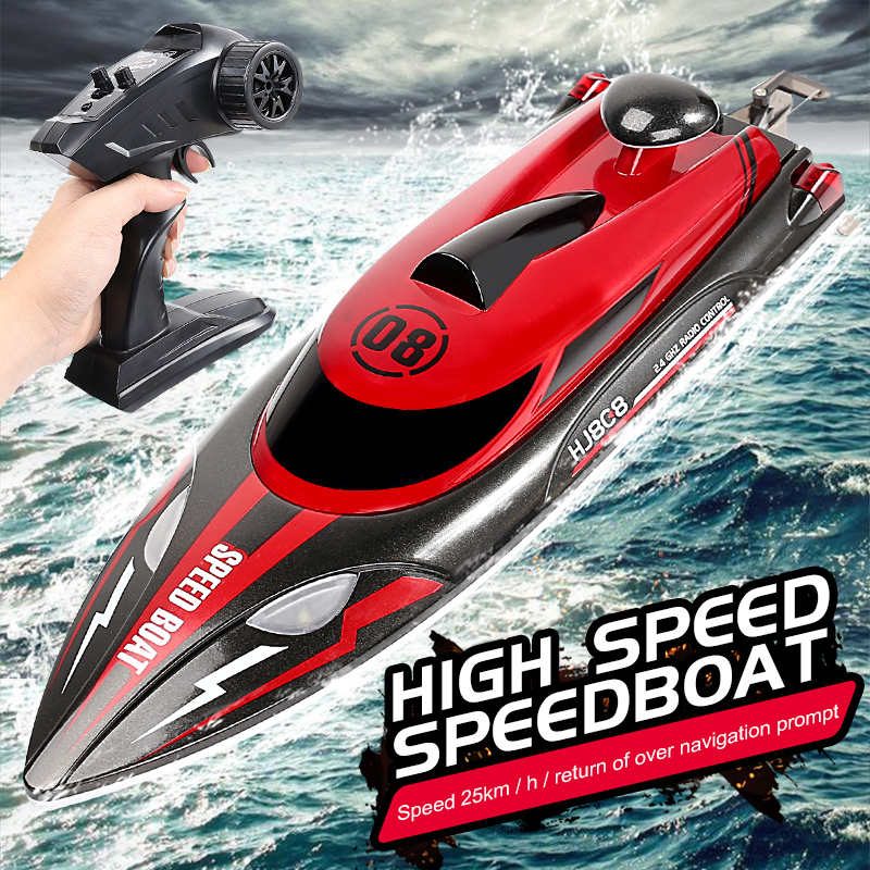 HJ808 2.4G High Speed Sailing Boats Remote Control 25KM / H with Night Light