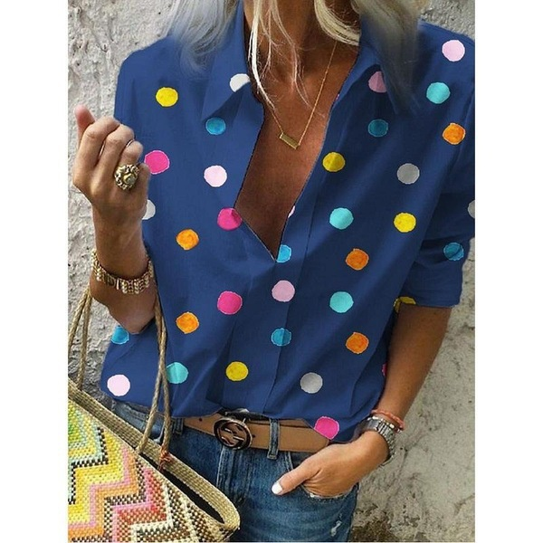 Plus Size Women Summer Casual Short Sleeve Tops V-neck Blouses Ladies Fashion Solid Color T-shirts Loose Button-down Shirts S-5XL