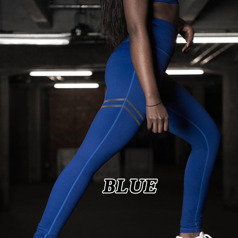 Women Solid Color Running Gym Stretch Sports High Waist Lift The Hips Elastic Yoga Pants Leggings