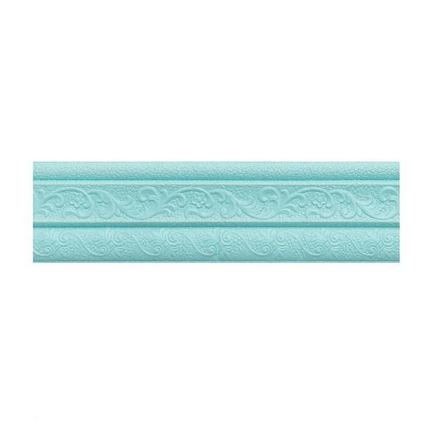 3D foam edge with waterproof wall sticker with line collision skirting board self-adhesive background wall