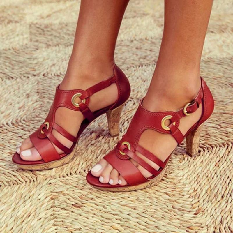 Bonnieshoes Fashion Elegant Buckle Strap Sandals