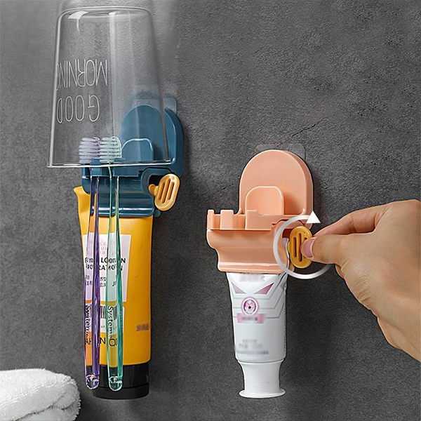 Toothbrush Holder With Toothpaste Squeezer(Buy 3pcs Free Shipping Worldwide)