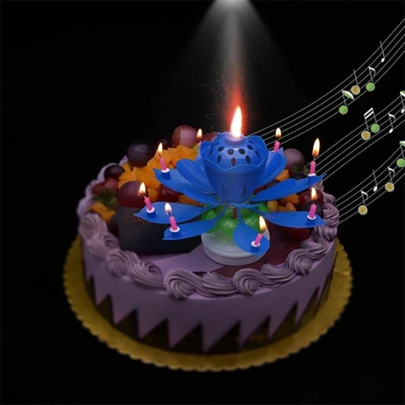 Spin music candle