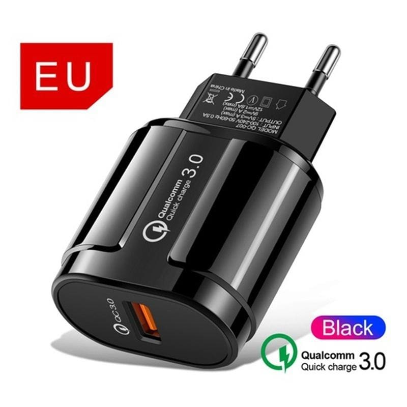 5V/3A Quick Charge QC 3.0 USB AU US EU Plug Charger Universal Mobile Phone Charger Wall Fast Charging Adapter for IPhone Samsung Xiaomi