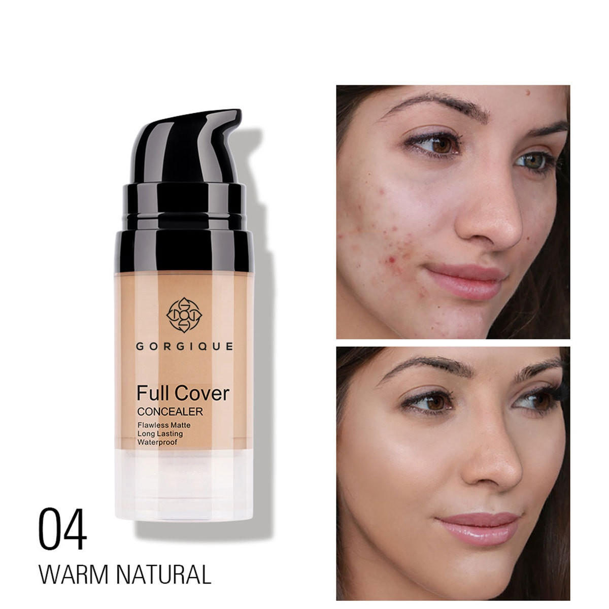 Professional Full Skin Concealer Foundation Cream Face Blemish Cover Dark Spot Tattoo Contour Makeup