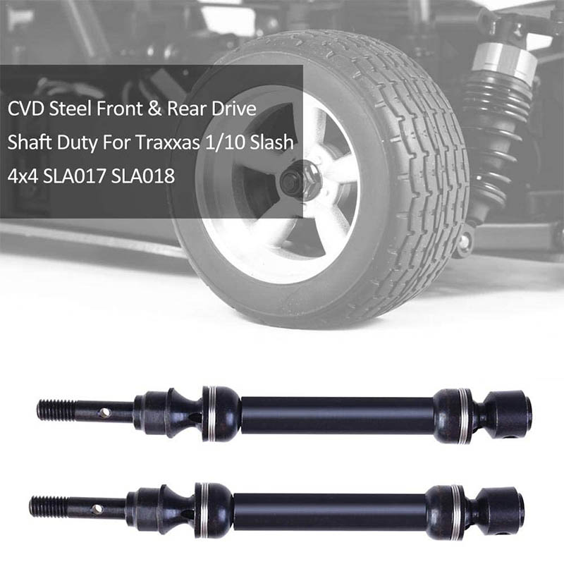 CVD Drive Shaft Kit Front Rear for Traxxas 1/10 Slash 4x4 SLA017 SLA018, Upgrade