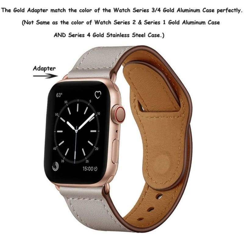 100% Genuine Leather Bands Compatible with Apple Watch 38mm 40mm 42mm 44mm  Wristband for iWatch Series 5 & Series 4/3/2/1