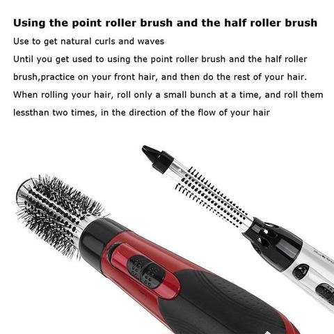 7in1 Professional Multi-functional Styling Tools Wide Brush Hair Dryer Straightener Comb Clip Pipe Roller Brush