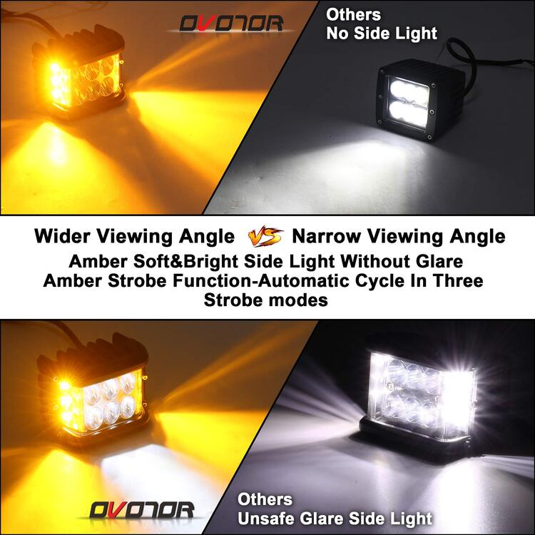 "🎅2020 Christmas Pre Sale🧦3.75"" Dual Side Shooter Dual Color Strobe Cree Pods"