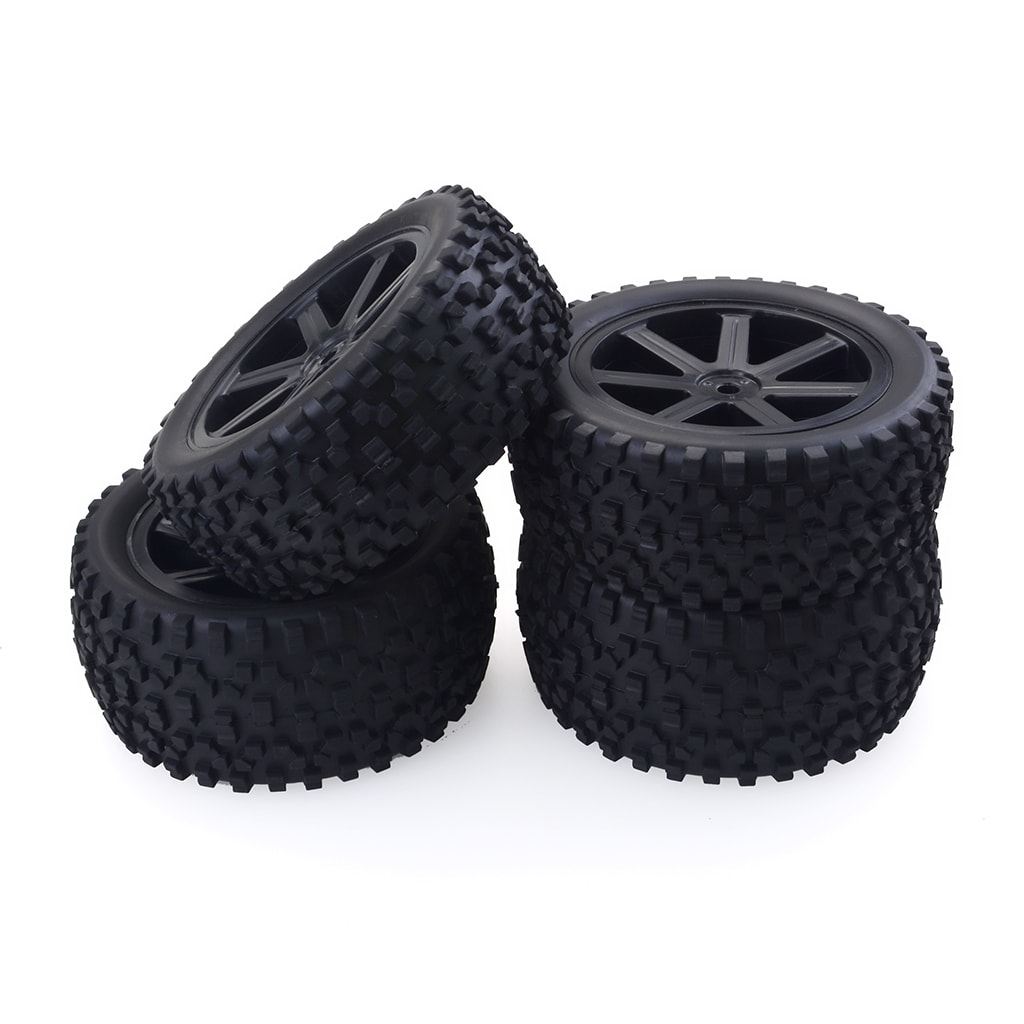 1/10 Buggy Wheels Tires Pack of 4 for Redcat HSP, HPI, Hobbyking, Traxxas, Losi, VRX, LRP, ZD Racing