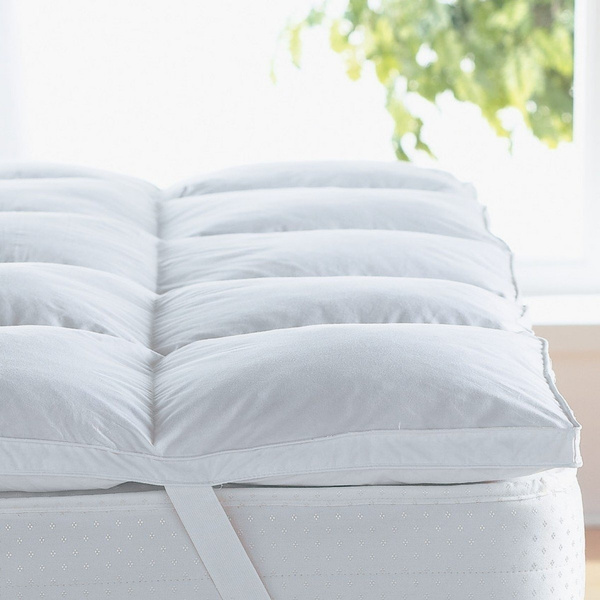 Home Sweet Home 2' Inch Mattress Topper And Mattress Pad Hypo-allergenic Down Alternative 1000 Grams Filling