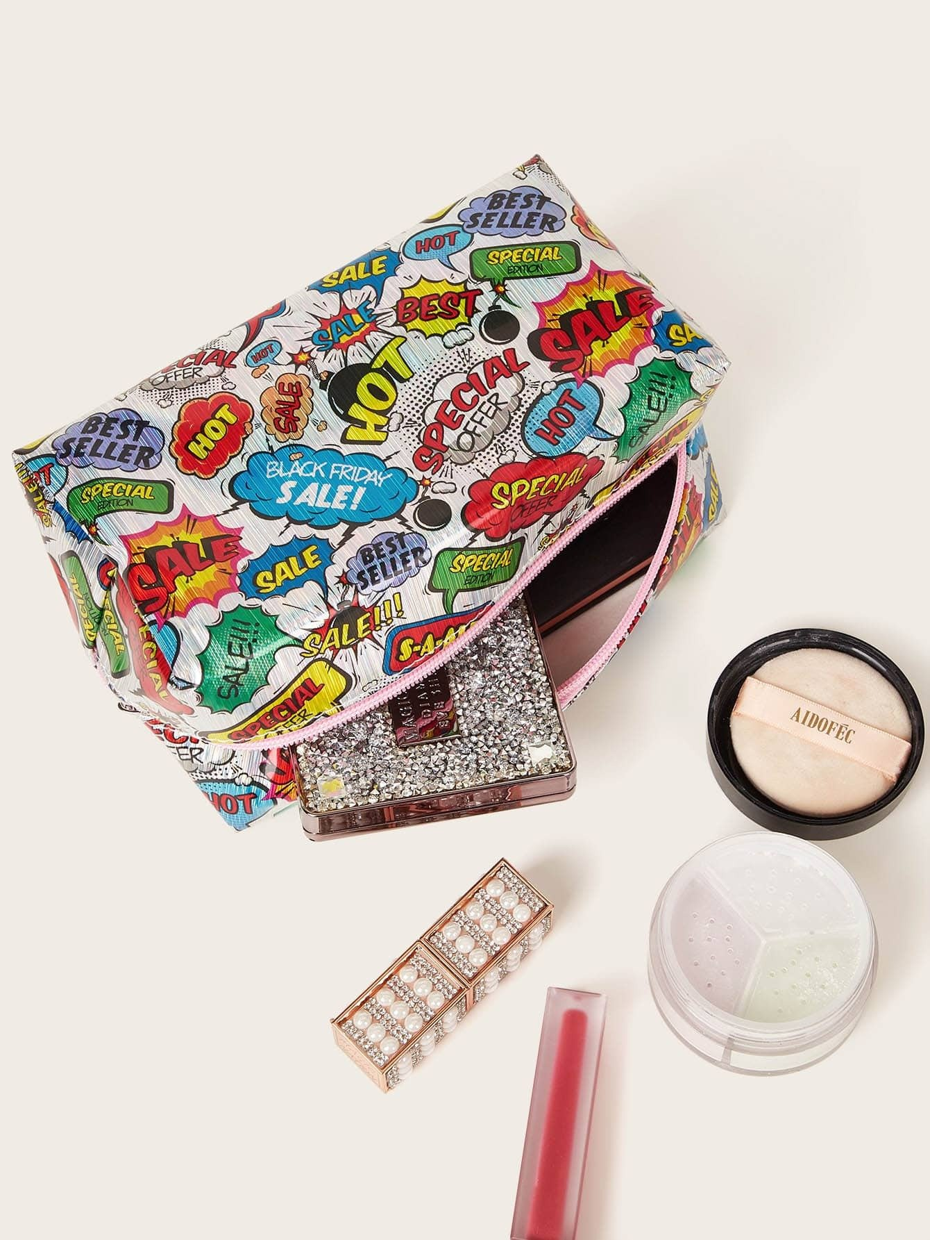 Graffiti Pattern Makeup Bag