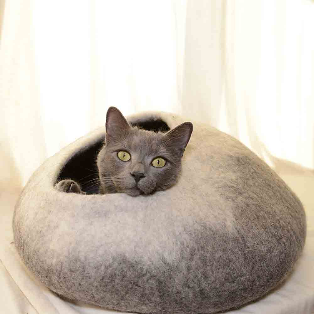 Natural wool Cat Cave Bed