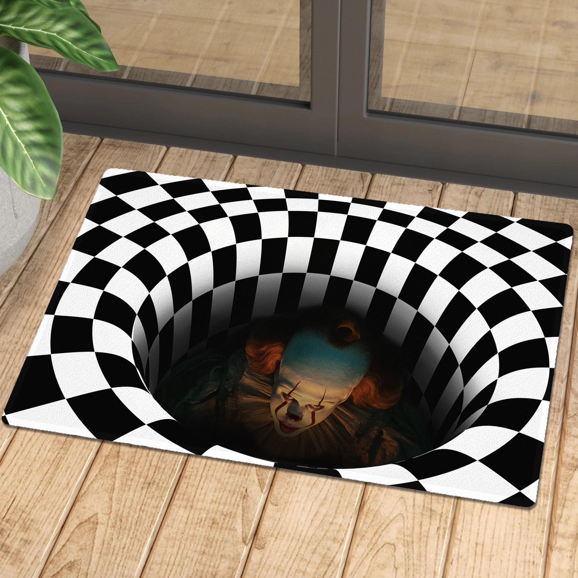 🔥ONLY $6.99 Second One🎃Halloween decoration Carpet IT Illusion Doormat🎃